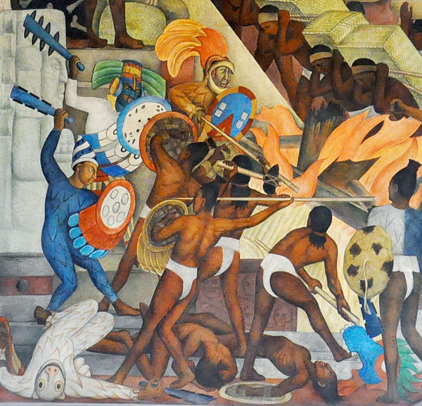 War is religion by other means the mex files for Aztec mural painting