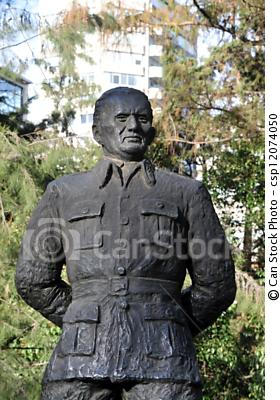 Apologies for using a stock photo...for some reason the Tito monument isn't a much photographed as the one to Winston Churchill.  Funny that.