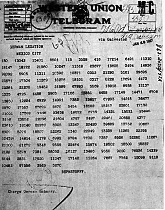 Zimmermann Telegram Old fashioned justice�...