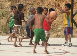 Triqui children, being children... photo by Olga Rosario