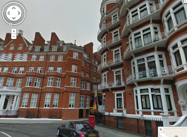 Ecuadorian Embassy, London... Google Street View