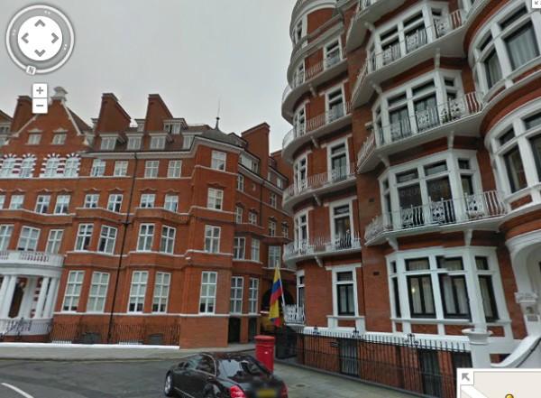 Ecuadorian Embassy, London... Google Street View