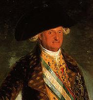 Carlos IV, from a portrait by Francisco Goya