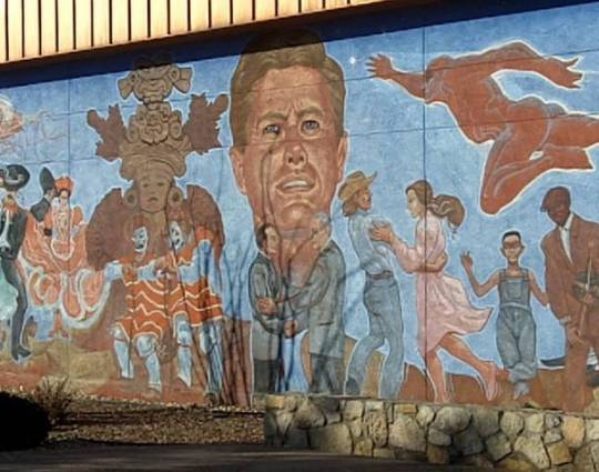 JFK mural at Chamizal agreement (which was actually handed over during the Johnson Administration)