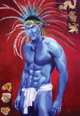 """Aztec Warrior"", Lalo Ugalde"