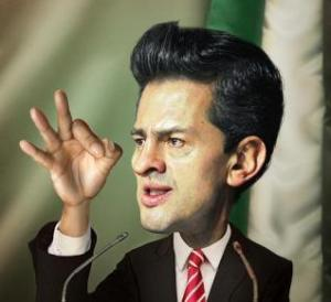 caricature of Peña Nieto, Revista Replicante.