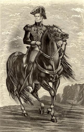 santa-anna-horseback