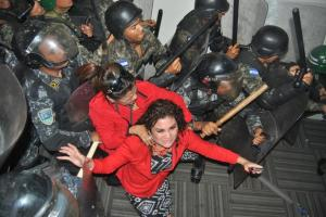 Photo of Deputies expelled from the Honduran Congress by the military from Witnesses For Pease