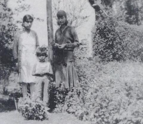 Day, daughter Tamar, and unidentified woman, Mexico, 1930