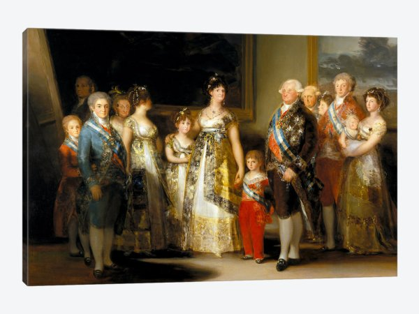 Carlos IV and family, 1800.  Franciso Goya.
